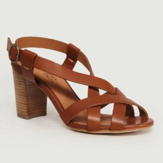 Anthology Paris - 41 Size Cognac Leather Alesia Princess Sandals - cognac | leather | 41 - Cognac