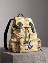 Burberry The Large Rucksack in Sketch Print Nylon