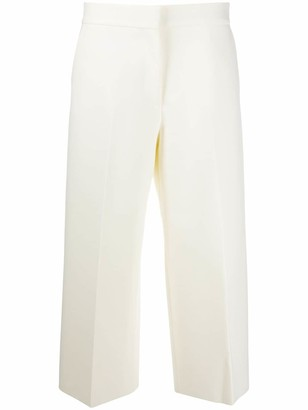 MSGM Wide-Leg Cropped Trousers
