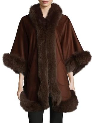 Wolfie Fur Premium Full Dyed Fox Fur Perimeter Cape
