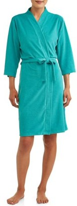 Lissome Women's and Women's Plus Terry Wrap Robe