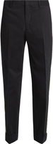 Gucci Side-stripe brushed cotton-gabardine trousers