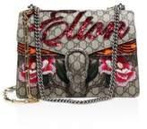 Gucci Elton Embroidered GG Chain Shoulder Bag