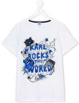 Karl Lagerfeld Rocks The World T-shirt - kids - Cotton - 16 yrs