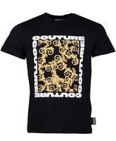 Versace Jeans Couture Baroque Print T-shirt Colour: BLACK, Size: SMALL