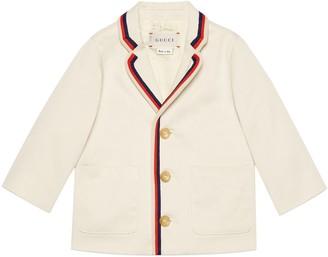Gucci Baby gabardine jacket with Tennis