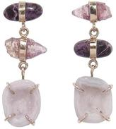 Melissa Joy Manning Sugalite, Sapphire, and Druzy Drop Earrings