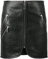 Etoile Isabel Marant zipped mini skirt - women - Lamb Skin/Polyester - 36