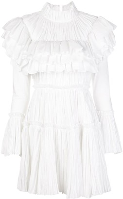 KHAITE Paula pleated mini dress