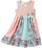 Iris & Ivy Knit Striped Bodice Dress (Toddler & Little Girls)