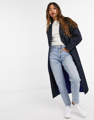 Helene Berman trench coat in blue