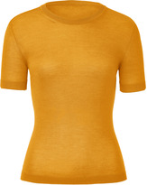 Malo Curry Cashmere and Silk Blend Knit Top