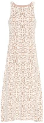 Jil Sander Cotton-blend knit dress