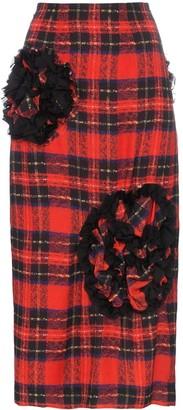 Simone Rocha Embellished Checked Skirt