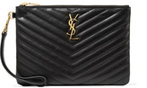 Saint Laurent Monogramme Quilted Leather Pouch - one size