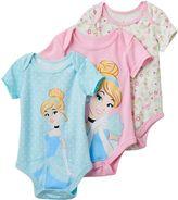 Disney Disney's Cinderella Baby Girl 3-pk. Bodysuits