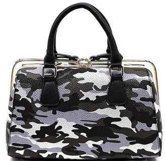 Nadya's Closet Camouflage Slide-Zipper Satchel