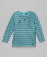 Nano Blue Stripe Pocket Henley - Infant Toddler & Boys