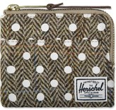 Herschel White Polka Dot Johnny Harris Tweed Wallet