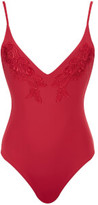 MinkPink Women's Forbidden Fruit One Piece Swimsuit - Cherry Red