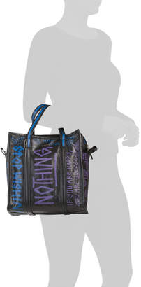 Made In Italy Leather Graffiti Tote