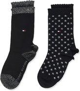 Tommy Hilfiger Girl's TH Glitter 2P Calf Socks,pack of 2