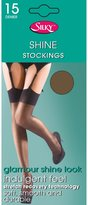 Silky Womens/Ladies Shine Plain Top Stockings (1 Pair)