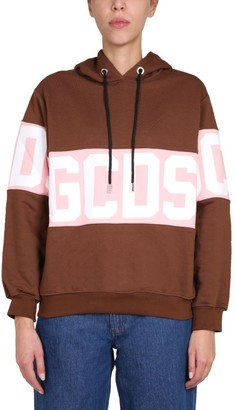 GCDS Logo Band Hoodie