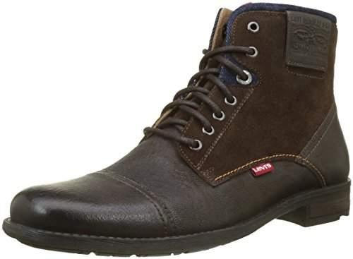 Levi's Men's Fowler Biker Boots, Dark Brown 29