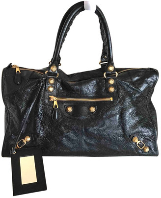 Balenciaga Weekender Black Patent leather Handbags