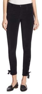 Joe's Jeans Icon Lace-Up Velvet Skinny Ankle Pants
