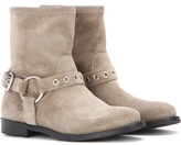 Burberry Queenstead Suede Ankle Boots