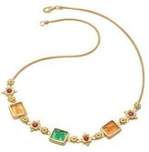Tagliamonte Classic Collection - 18K Gold and Ruby Necklace