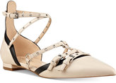 Nine West Aweso Buckle Pointed-Toe Flats Women's Shoes