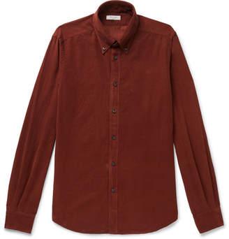 Boglioli Slim-Fit Button-Down Collar Cotton-Corduroy Shirt