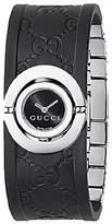 Gucci Women's 112 Twirl Collection Rubber Bangle Watch YA112518