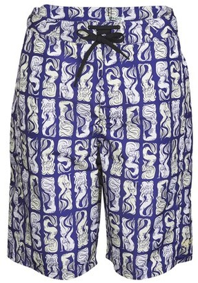 Kenzo All Over printed swim trunks