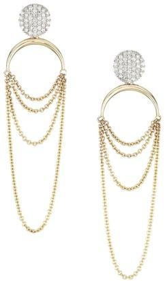 Phillips House Infinity 14K Yellow Gold & Diamond Draped Earrings