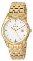 Bulova 97B109 Silver White Dial Bracelet Men