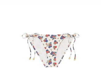 Tory Burch Gemini Link Printed String Bikini Bottom