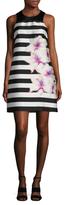 Rachel Roy Printed Twill Trapeze Dress