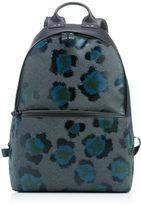 Kenzo Leopard Print Backpack Black Green