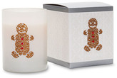 Primal Elements Gingerbread Man White Icon Candle