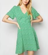 New Look Floral Puff Sleeve Tea Dress