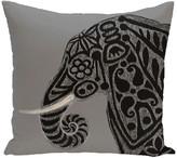 "Inky Animal Print Pillow, Gray, 18""x18"""