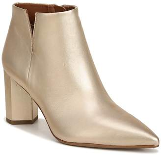 Franco Sarto Nest Block Heel Leather Bootie