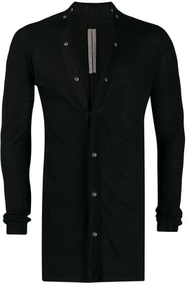 Rick Owens Long Press Stud Cardigan