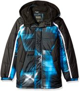 iXtreme Little Boys' Toddler Light Source Plaid Puffer