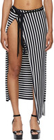Thumbnail for your product : Jean Paul Gaultier SSENSE Exclusive White & Navy Ottolinger Edition Les Marins Patchwork Skirt