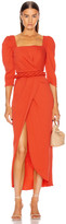Johanna Ortiz Classic Meetings Midi Belted Dress in Paprika | FWRD